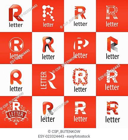 large set of vector logo letter R