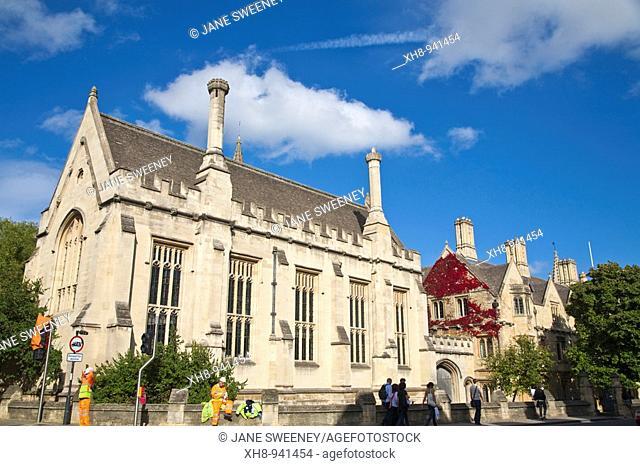 Magdalen College, High Street, Oxford, Oxfordshire, England, UK