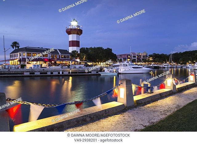 Twilight Over Harbour Town, Hilton Head Island, South Carolina