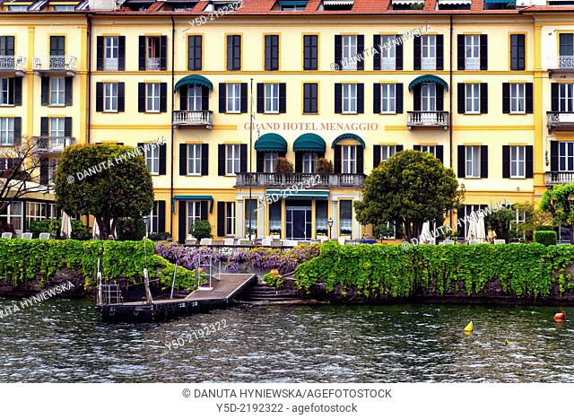 lake front Grand Hotel, Menaggio, province Como, Lombardy, northern Italy, western shore of Lake Como