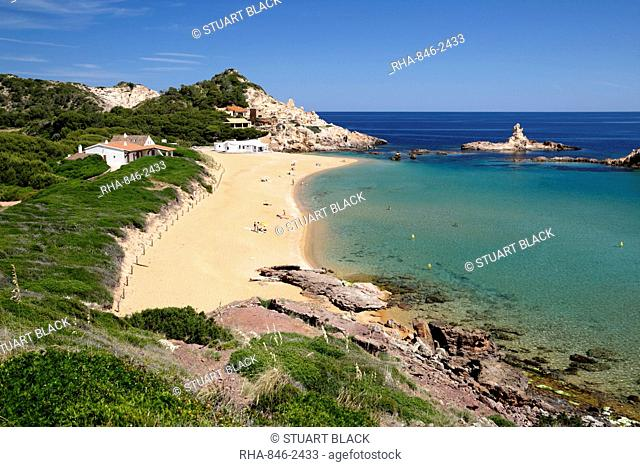 Cala Pregonda, near Fornells, North Coast, Menorca, Balearic Islands, Spain, Mediterranean, Europe