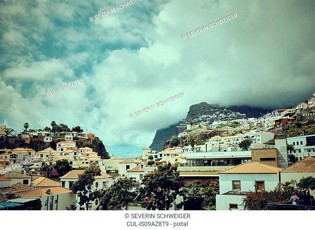 Hillside buildings, Madeira, Funchal, Portugal