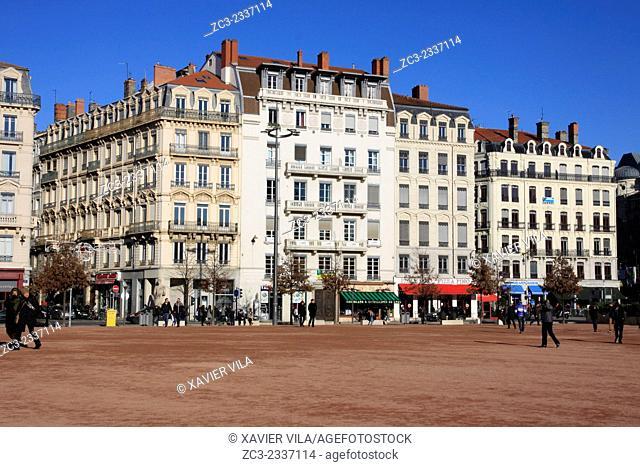 Place Bellecour, Lyon, Rhone, Rhone Alpes, Fance