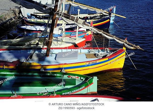 Fishing boats. Collioure, Languedoc-Roussillon, France