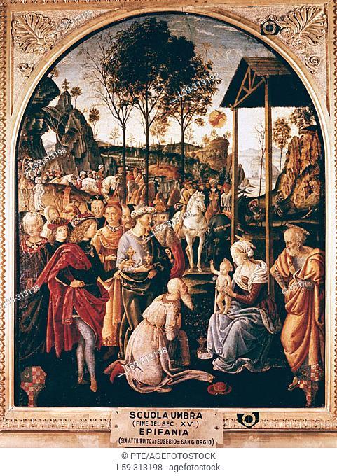 'Epiphany', painting by Eusebio di San Giorgio