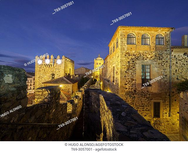 Old Town of Cáceres, medieval town, World Heritage City by UNESCO, Caceres City, Caceres Province, Extremadura, Spain, Europe