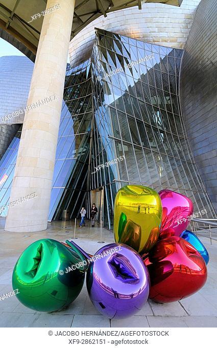 Guggenheim Museum by Frank O. Gehry.Bilbao city.Bizkaia province.Euskadi.País Vasco.Spain