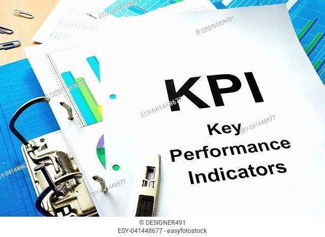 Folder and documents with title KPI - Key Performance Indicator