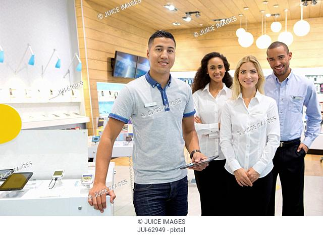 Sales team in phone store