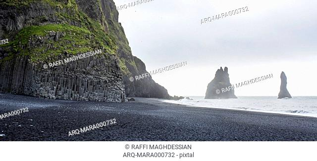 Scenic View Of Reynisdrangar Beach In Iceland