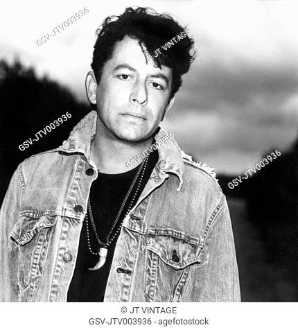 Joe Ely, American Singer, Songwriter and Guitarist, Portrait in Denim Jacket, circa early 1980's
