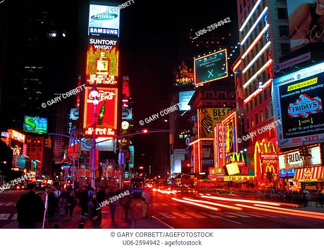 Times square, New York City at night