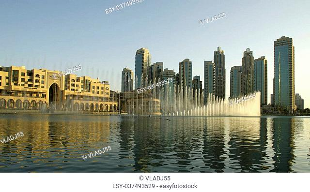 famous dubai musical fountain, United Arab Emirates