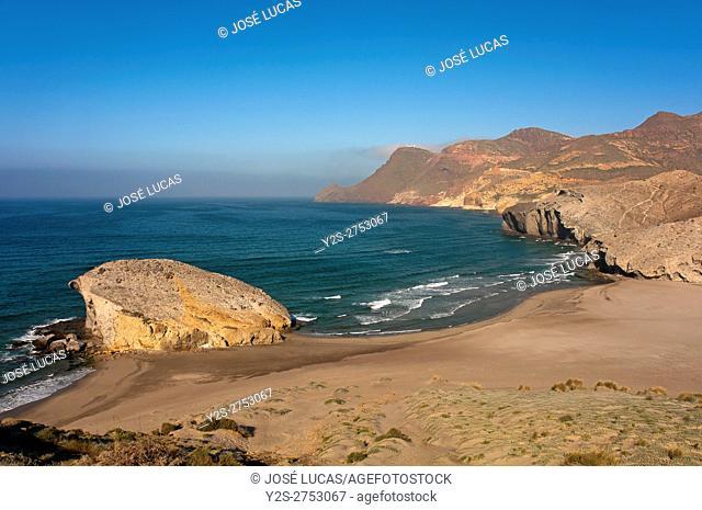 Cabo de Gata - Nijar Natural Park, Monsul Beach, Almeria province, Region of Andalusia, Spain, Europe