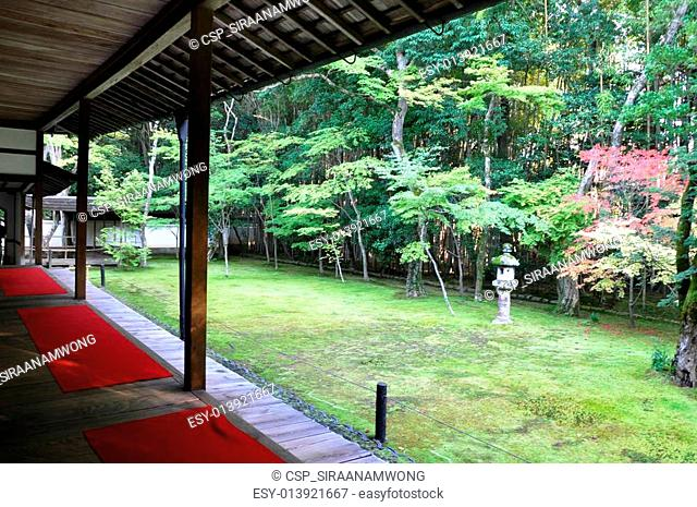 Japanese garden in the Koto-in a sub-temple of Daitoku-ji
