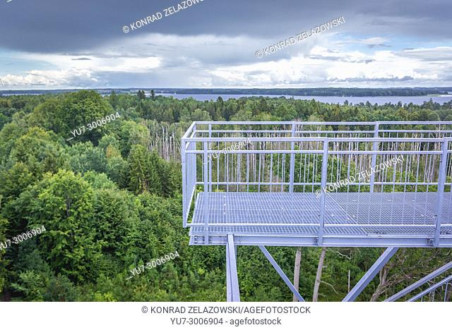 Aerial view from lookout tower in Mamerki (German: Mauerwald) bunker complex - former headquarters of Nazi Germany Land Forces High Command, Poland