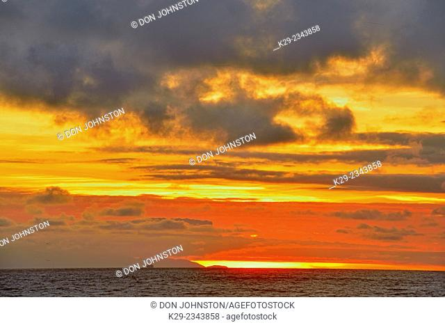 Sunset over the Channel Islands, Ventura, California, USA