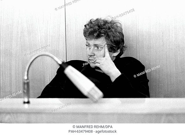 Student leader Daniel Cohn-Bendit at Frankfurt district court on 24 January 1969. He received a sentence on probation of six months because of riot and breach...