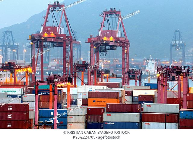 Container terminal, Hong Kong, China, East Asia