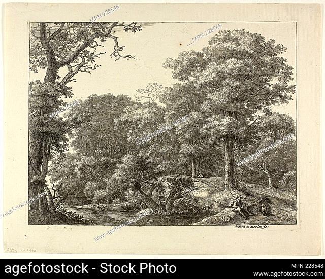 The Wayfarer Resting in the Forest - Anthoni Waterlo Dutch, 1609-1690 - Artist: Anthonie Waterloo, Origin: Holland, Date: 1630–1690, Medium: Etching on paper