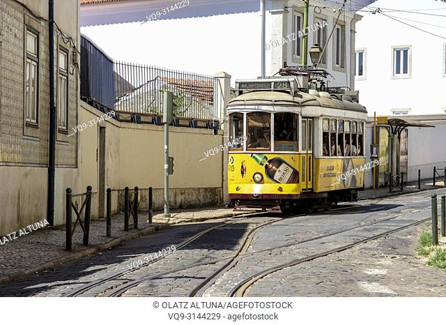Tram at Lisbon. Portugal