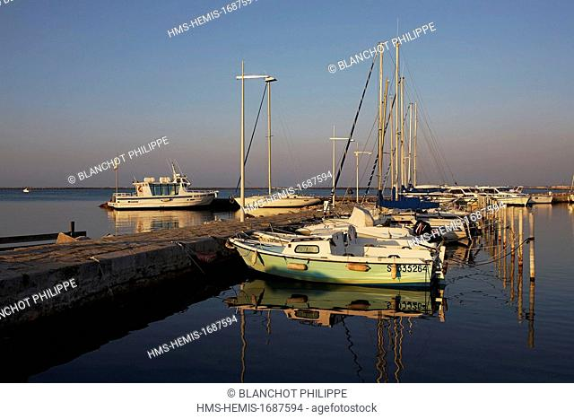 France, Herault, Bouzigues, marina