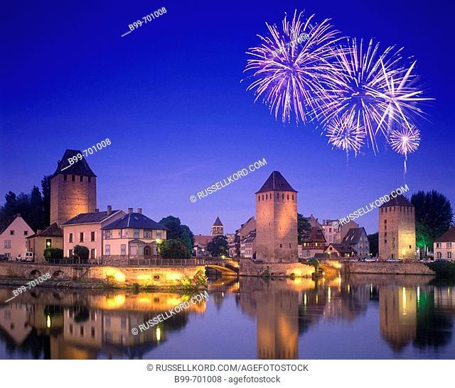 Covered Bridge, Petite France, Strasbourg Alsace, France