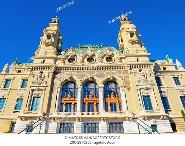Casino in a Sunny Day in Monte Carlo in Provence-Alpes-Côte d'Azur, Monaco