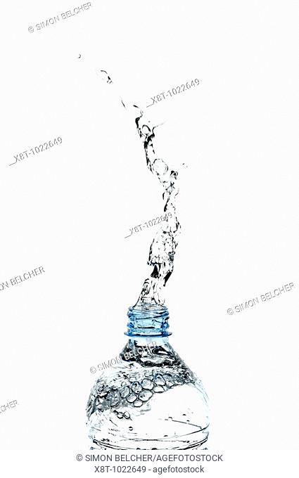 Water Splashing from a Bottle