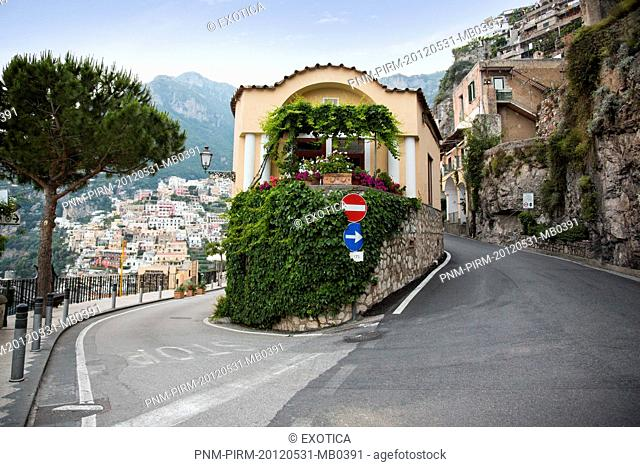 Buildings in a town on a hill, Positano, Amalfi Coast, Province of Salerno, Campania, Italy