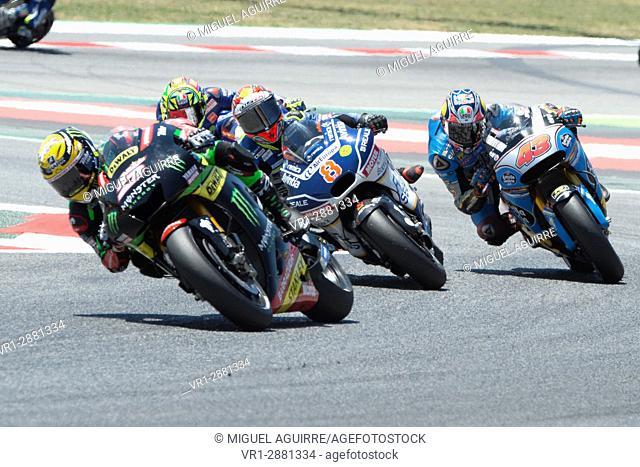Driver Johann Zarco. Yamaha Team. Monster Energy Grand Prix of Catalonia MotoGP at Circuit of Catalonia. Barcelona, Spain, June 11, 2017