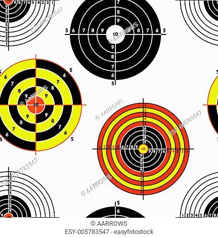 targets for practical pistol shooting, seamless wallpaper, vecto