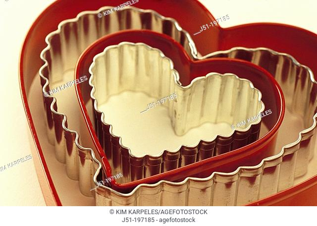 Heart shaped biscuit cutters