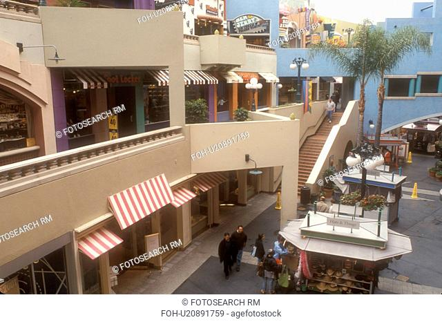 shopping center, San Diego, California, CA, Westfield Shoppingtown Horton Plaza an open-air, multi-level complex in downtown San Diego