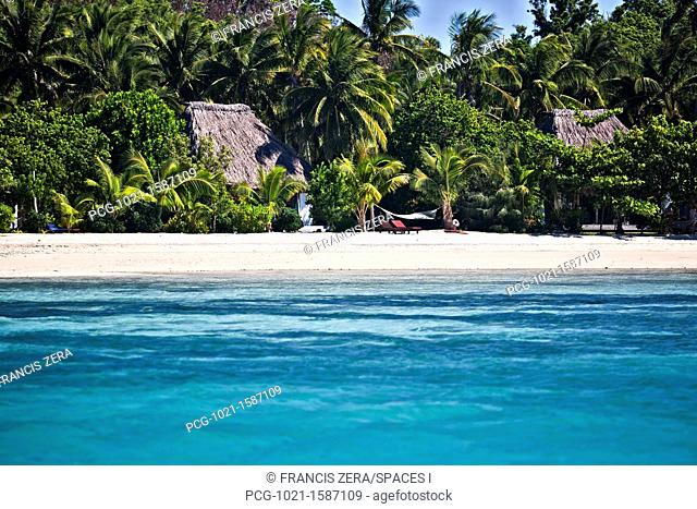 Bay In Tropical Island