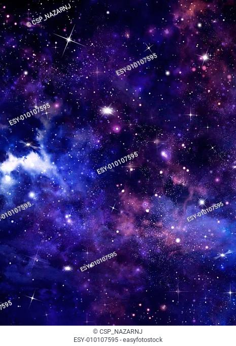 abstract blue background starry sky