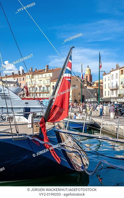 Promenade Quai Jean Jaures, Saint-Tropez, Var, Provence-Alpes-Cote d`Azur, France, Europe
