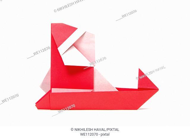 Origami Paper Santa Claus