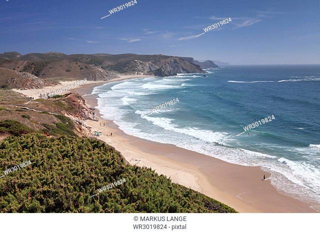Praia do Amado beach, Carrapateira, Costa Vicentina, west coast, Algarve, Portugal, Europe