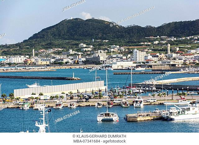 View of the harbor of Ishigaki in Japan