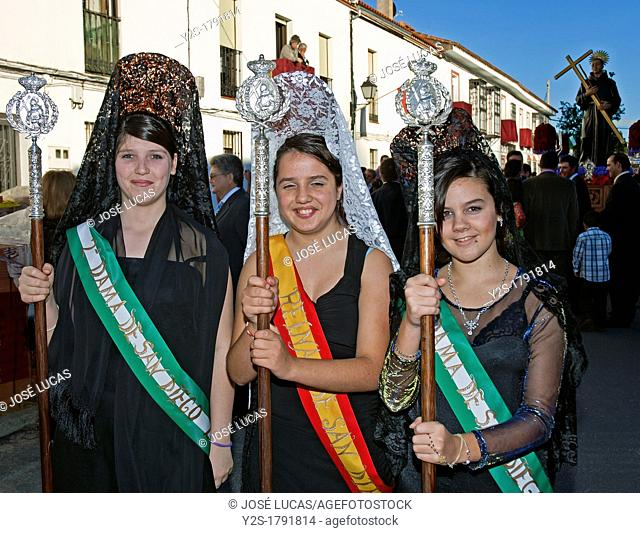 Festivities Procession of San Diego, San Nicolas del Puerto, Seville-province, Spain