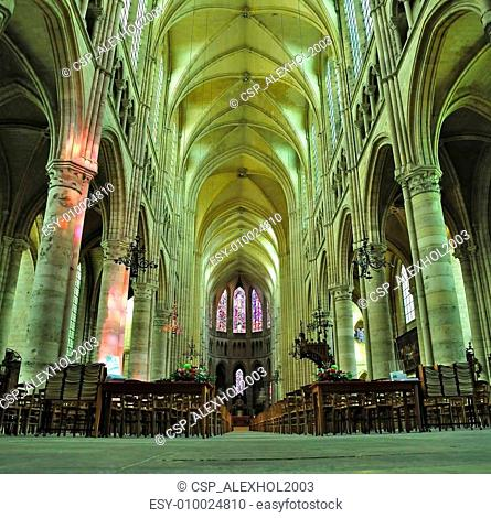 interior of Cathedral Soissons