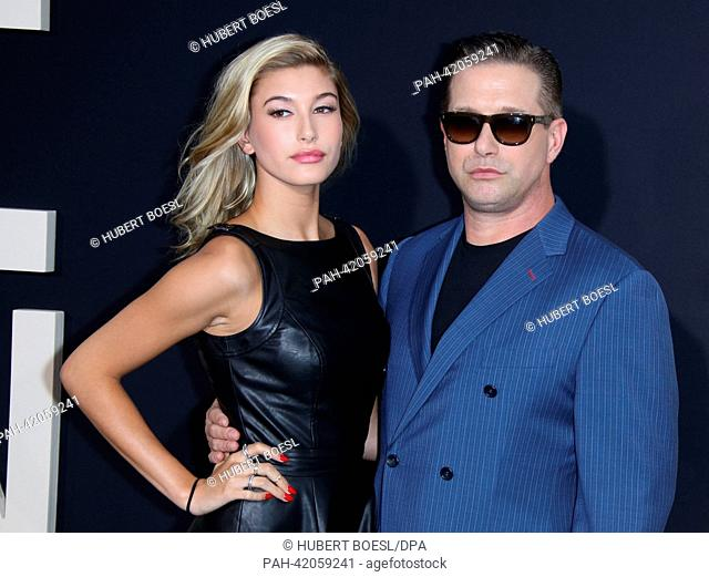 US actor Stephen Baldwin and his daughter Hailey Rhode Baldwin attend the premiere of the movie 'One Direction: This Is Us' at Ziegfeld Theatre in Manhattan