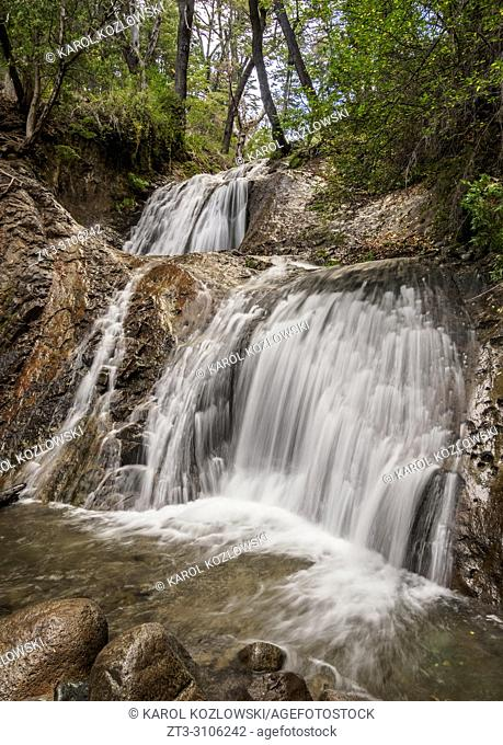 Los Duendes Waterfall, Nahuel Huapi National Park, Rio Negro Province, Argentina