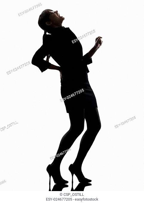 business woman backache pain silhouette