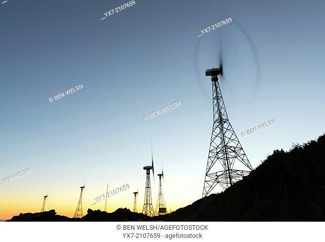 Windmills. Tarifa, Cadiz, Andalusia, Spain
