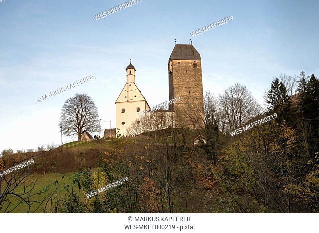 Austria, Tyrol, Schwaz, View to Castle Freundsberg
