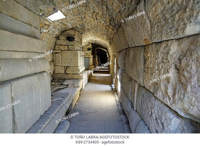 Great Theatre Tunnel. Ephesos. Ancient Greece. Asia Minor. Turkey