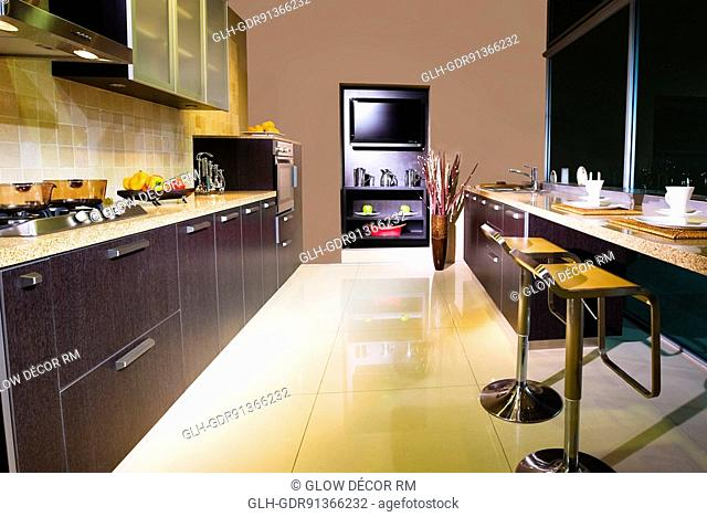Interiors of the kitchen