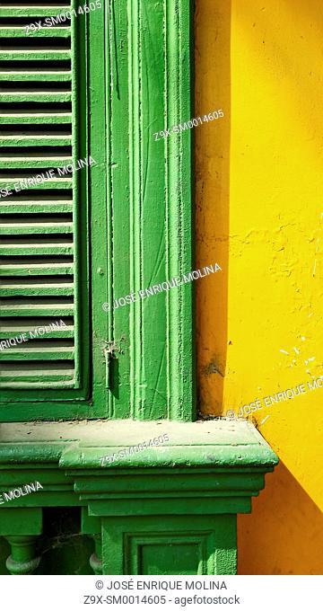 Windows in Barranco district.Lima.Peru